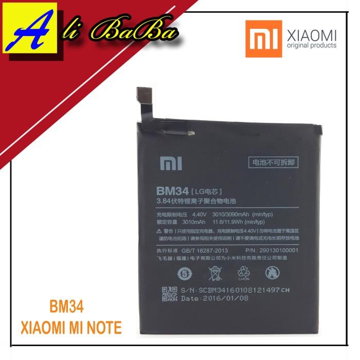 harga Baterai handphone xiaomi bm34  xiaomi mi note - note pro original Tokopedia.com
