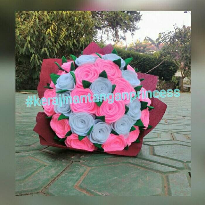 Jual Buket Bunga Flanel Cantik Kab Wonogiri Nikenhand Craft