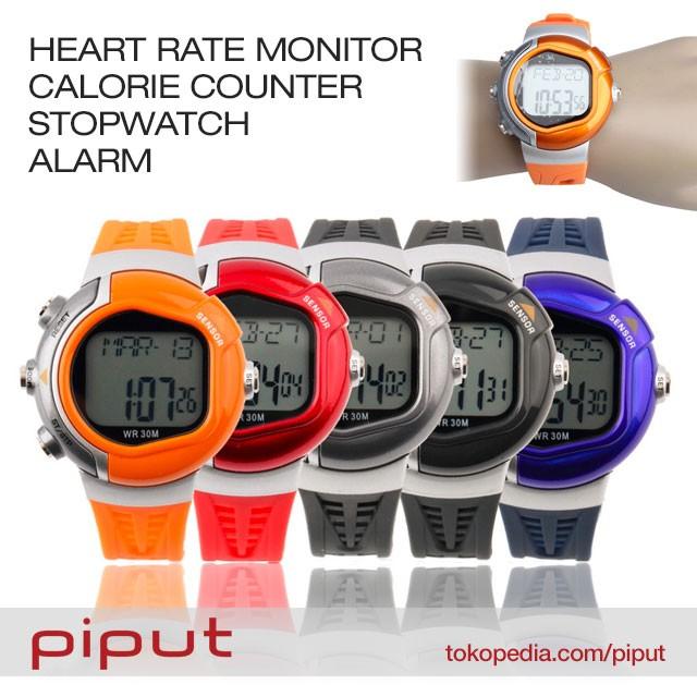 harga Jam tangan heart rate monitor detak jantung calorie counter stopwatch Tokopedia.com