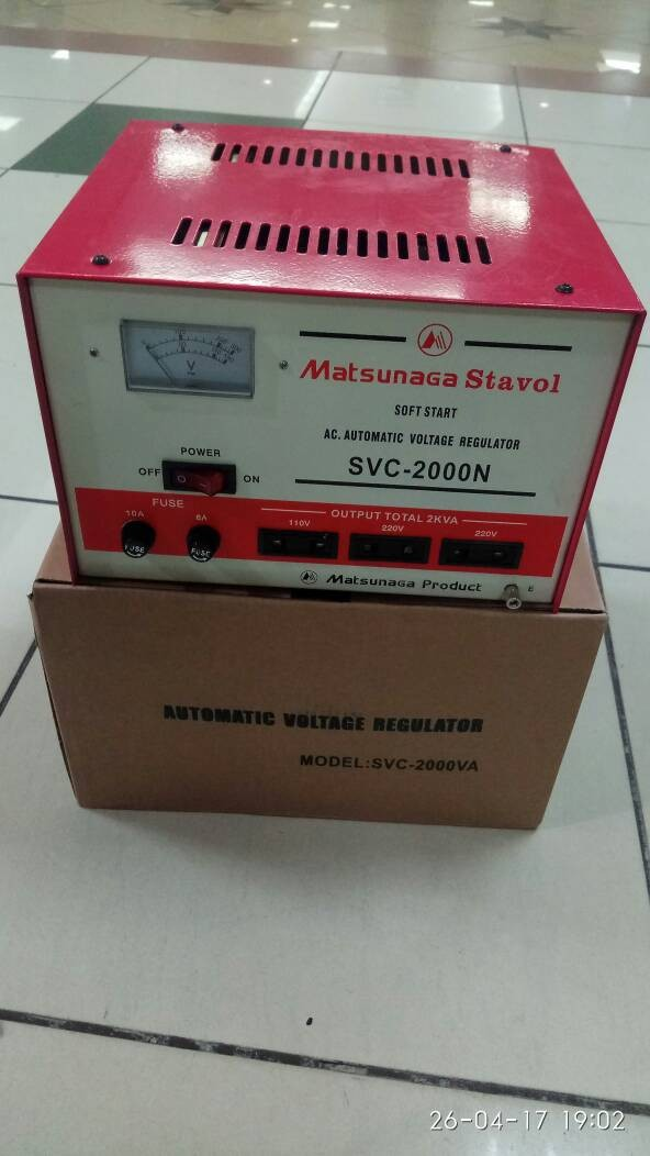 harga Stabilizer matsunaga stavol 2000w svc 2000n 2000w Tokopedia.com