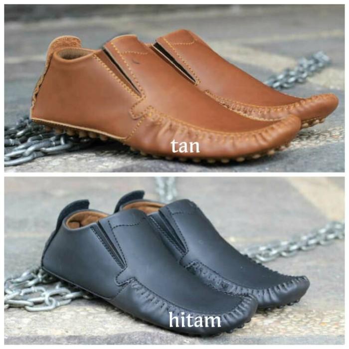 Sepatu casual pria black master original slip on formal mocassin slop