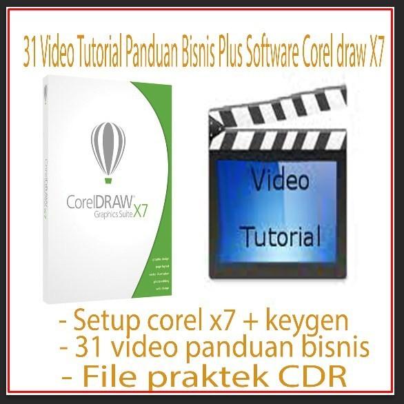 Foto Produk TUTORIAL COREL DRAW - 31 VIDEO Design Graphics dari Oredo Software