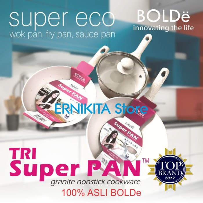 harga Super pan bolde | panci granite ceramic cookware set | free bubble Tokopedia.com