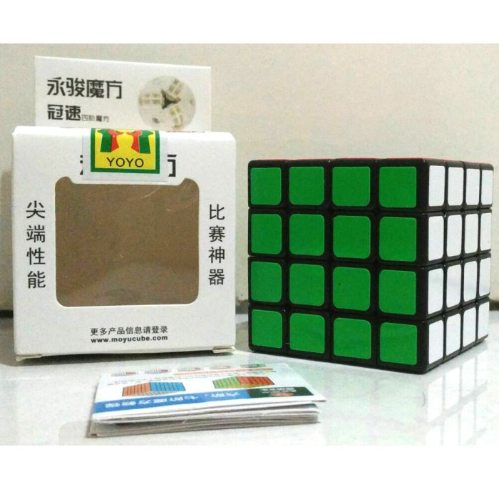 ... harga Rubik 4x4 yongjun moyu base hitam - speed edition / rubik speed Tokopedia.com