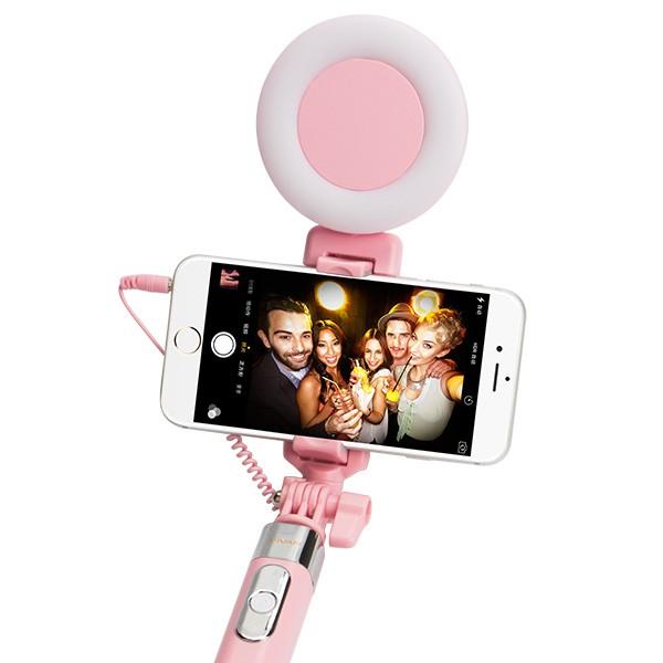 harga Tongsis vivan stl01 wired selfie stick with beauty fill light Tokopedia.com