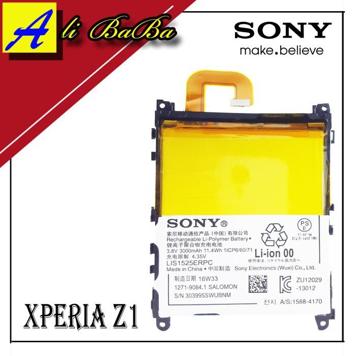 harga Baterai handphone sony xperia z1 l39h original 3000mah batre original Tokopedia.com