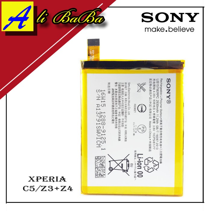 harga Baterai handphone sony xperia c5 ultra z4 z3 plus battery original Tokopedia.com