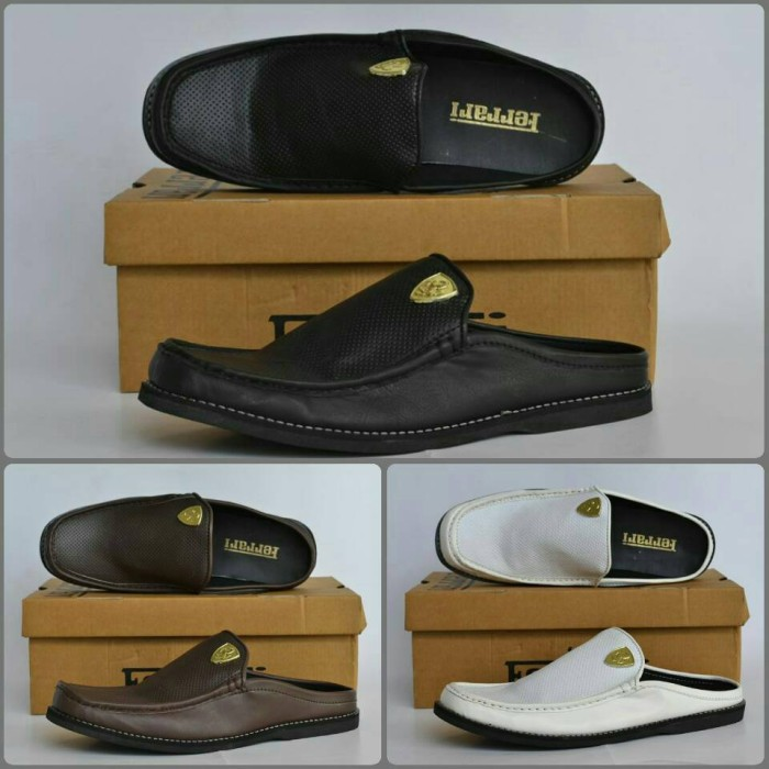 harga Sepatu sandal pria ferrari bustong 3 varian warna / free kaos kaki Tokopedia.com