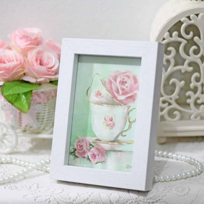 harga Lukisan bunga shabby chic / painting flower vintage rustic 14x18cm b Tokopedia.com