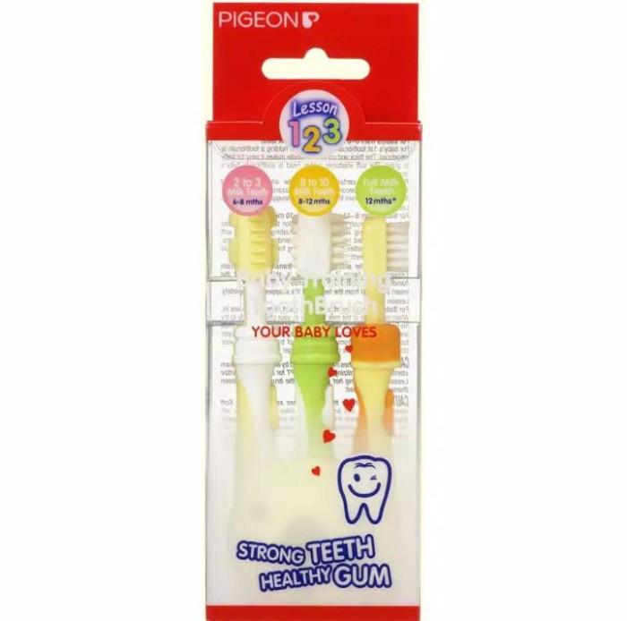 Pigeon baby training toothbrush / sikat gigi bayi anak tahap 123