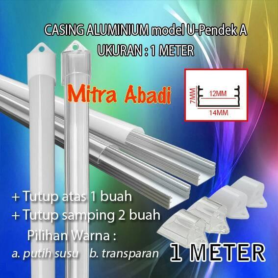 Foto Produk Casing Aluminium for Hard Strip LED Model U-Pendek A 1 Meter dari Toko Mitra Abadi