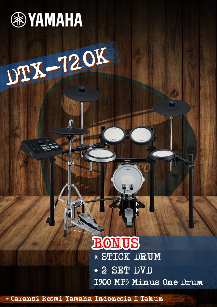 harga Drum elektrik yamaha dtx720 / dtx720k / dtx 720 / dtx 720k Tokopedia.com