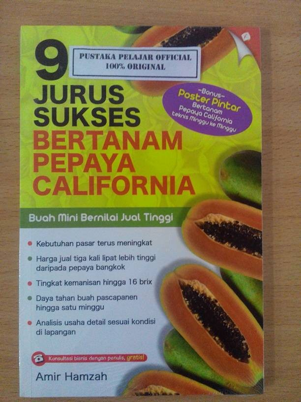 harga Buku 9 jurus sukses bertanam pepaya california / amir hamzah / agro Tokopedia.com