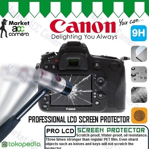 Foto Produk Screen Guard Protector Tempered Glass LCD Canon for EOS 7D dari createmore online