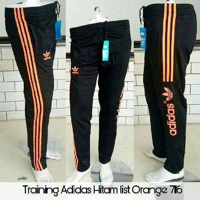 Foto Produk Celana Training Adidas Hitam Orange 7116- Celana Olahraga Import Murah dari JERSEYGO20 SUB