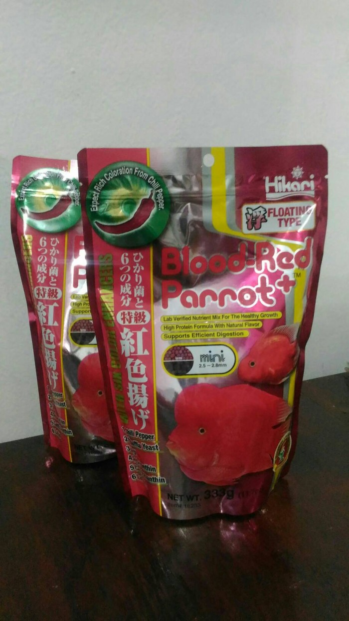 harga Hikari blood-red parrot+ with chili pepper pakan ikan louhan Tokopedia.com