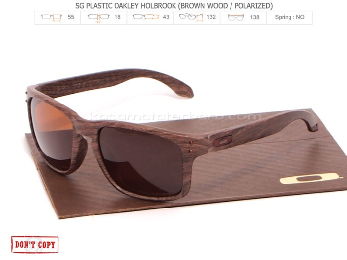 harga Kacamata oakley  holbrook wood brown polarized / holbrok wood Tokopedia.com