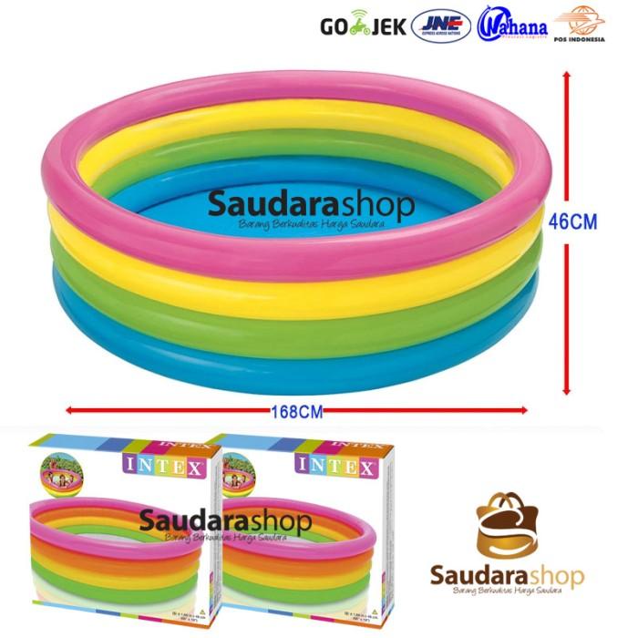 Intex 56441 Sunset Glow 4 Ring Rainbow Pool [168cm x 46cm] / Kolam