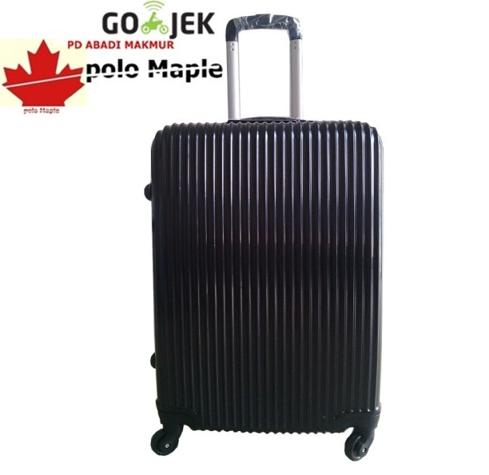 "Koper Fiber Polo Maple PP Vertical Stripe - B07 24"" - Hitam PC vs ABS"