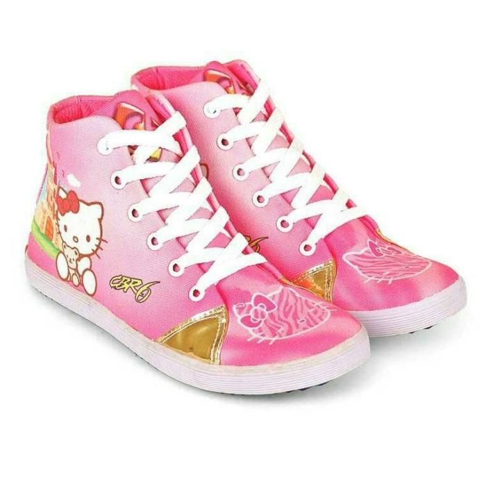 harga Sepatu anak perempuan motif hello kitty cbr6 original distro - cnc 311 Tokopedia.com