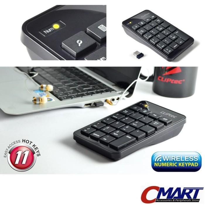 harga Cliptec air-rapid 2.4ghz wireless usb numeric keypad - rzk222 Tokopedia.com