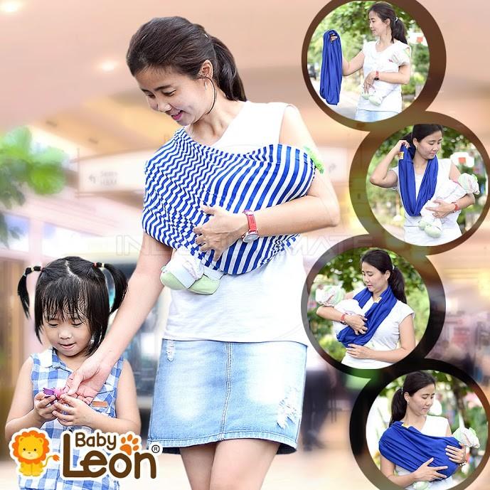 BABY LEON Gendongan Bayi Kaos / Geos /selendang Bayi Praktis BY 44 GB