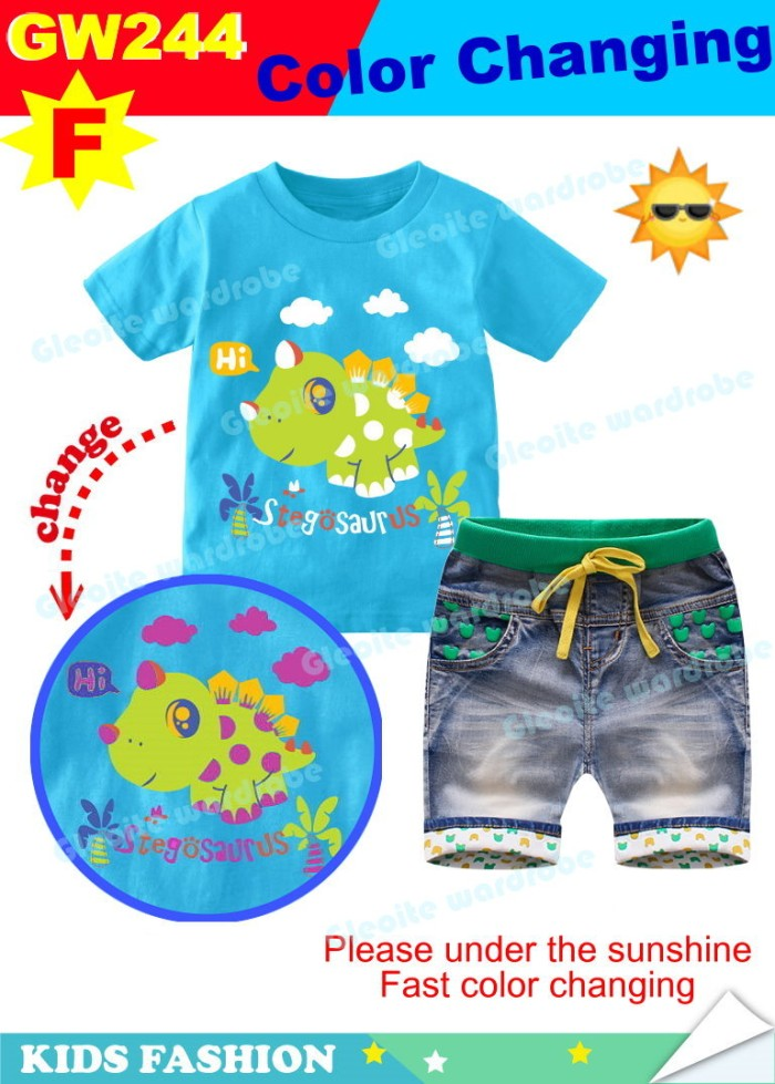 harga Gw244-f - baju / kaos setelan anak - stegosaurus dinosaurus Tokopedia.com