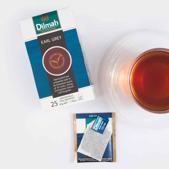 harga Dilmah - earl grey tea - 25 foil-wrapped teabags Tokopedia.com