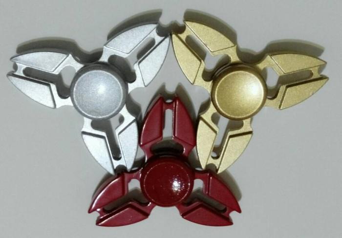 harga Fidget spinner metal ninja edition triple head Tokopedia.com