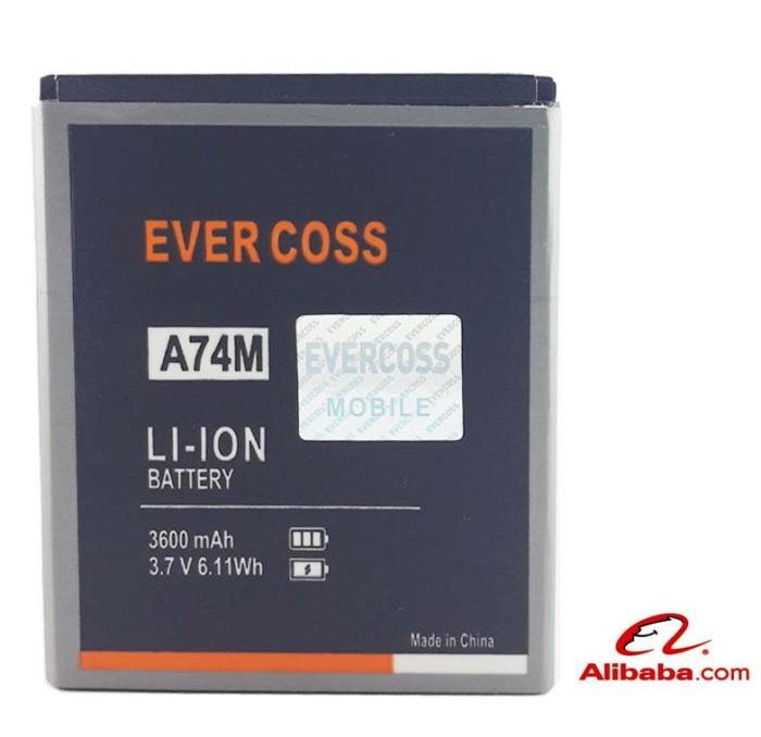 harga Baterai handphone  evercoss a74m winner t2 battery original 4800mah Tokopedia.com