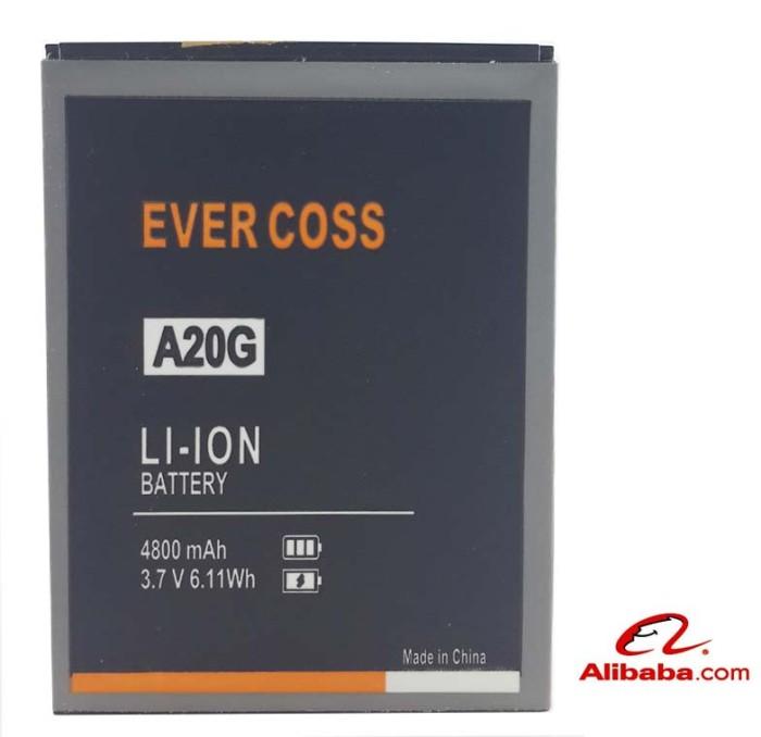 harga Baterai handphone evercoss a20 a20g battery batre original 4800mah Tokopedia.com