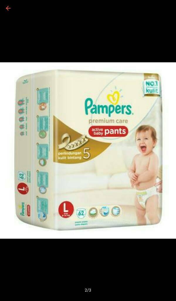 harga Pampers Premium Care Pants L-62 Tokopedia.com