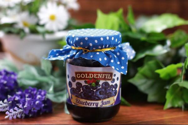 harga Goldenfil blueberry jam 1 kg (50% buah asli) selai buah blueberry Tokopedia.com
