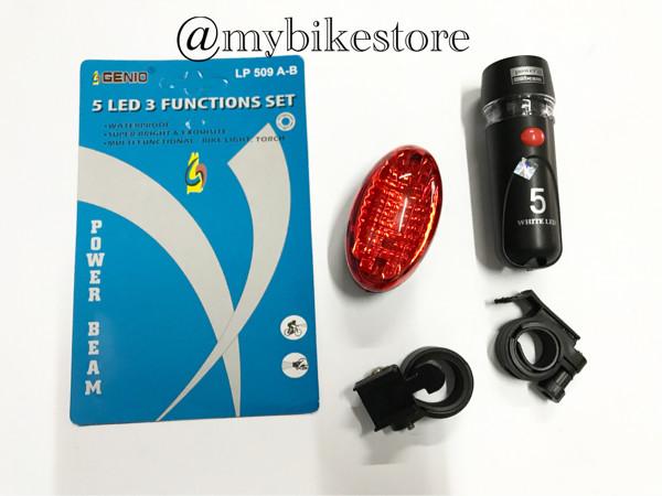 harga Lampu sepeda 1 set depan belakang Tokopedia.com