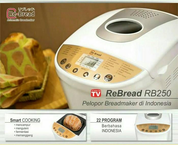 harga Re bread gold seri rb 250 - automatic bread maker Tokopedia.com