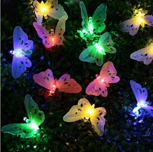 harga Lampu taman kupu kupu 20 led warna solar cell / tenaga matahari Tokopedia.com