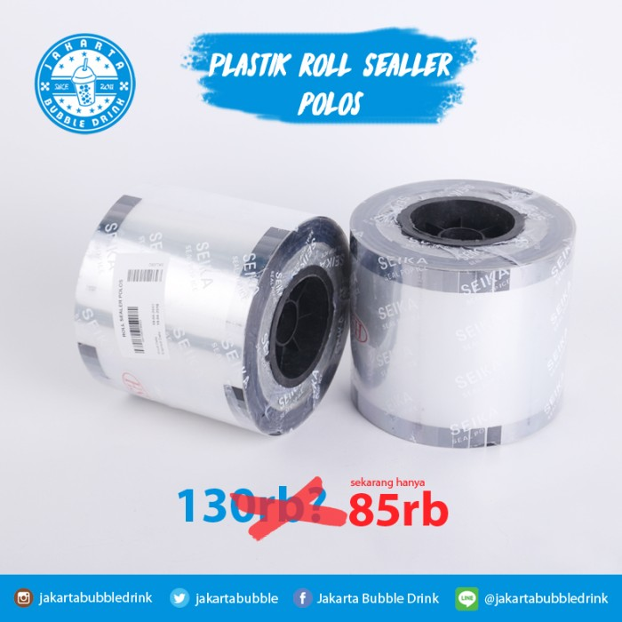 harga Plastik roll sealer polos - mesin lid cup roll seal pop ice Tokopedia.com
