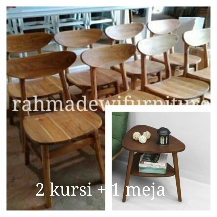 harga Kursi teras kayu jati minimalis , 2 kursi dan 1 meja Tokopedia.com
