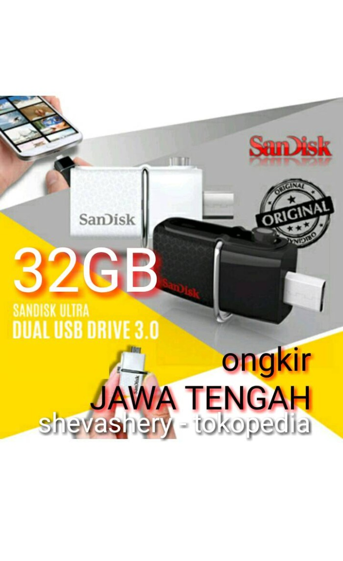 Jual Sandisk Usb Dual Drive 32gb Otg Flashdisk Hitam Shevashery Ultra 30 White