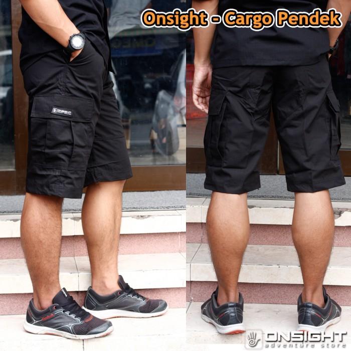 harga Celana pendek cargo onsight/celana cargo pendek/celana pria - hitam Tokopedia.
