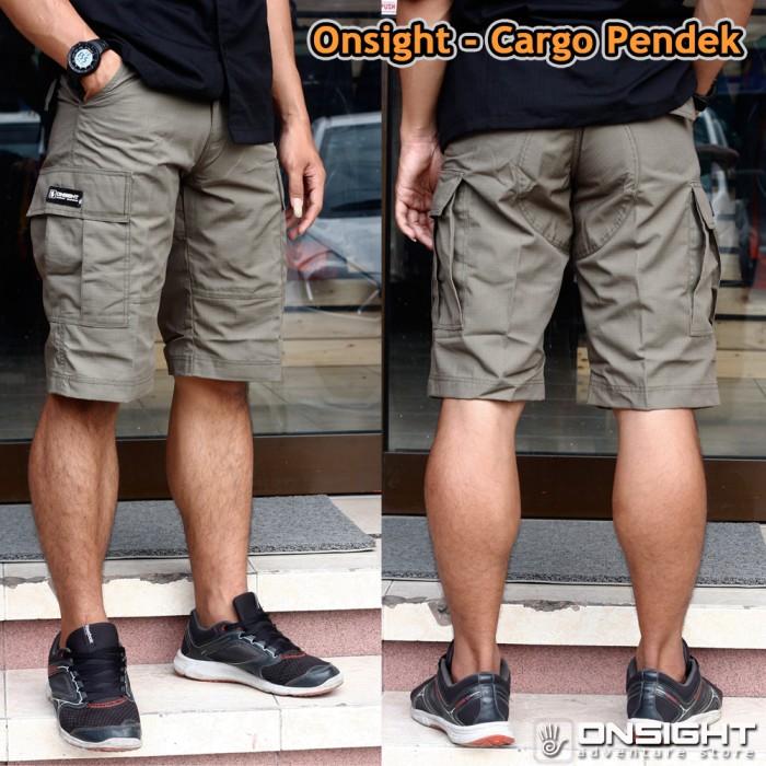 Celana pendek pria onsight / celana cargo onsight
