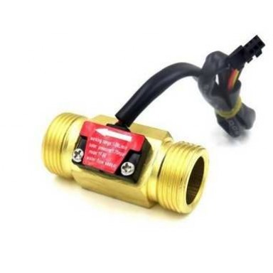 harga New: water flow sensor 3/4  kuningan aliran air cairan liquid 1-30l/mi Tokopedia.com