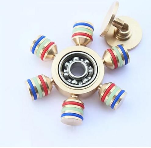 Premium fidget spinner deconstructed metal gold coated