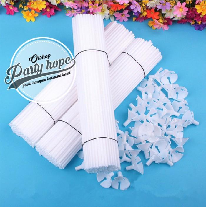 Foto Produk Tangkai Balon / Gagang Balon / Stik Balon Warna Putih / stick latex dari PARTY HOPE 2