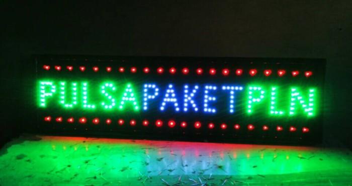 harga Led sign / tulisan lampu led pulsa - paket - pln Tokopedia.com