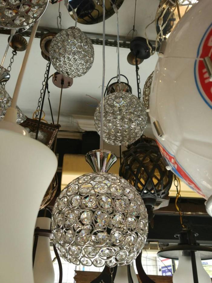 harga Lampu gantung led kristal 2011-3 silver with led Tokopedia.com