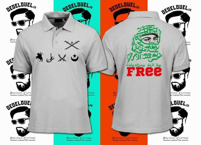 Polo shirt/baju/kaos kerah free palestina