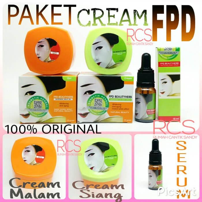 harga Paket cream wajah fpd ~ bpom ~ ( day cream magic glossy serum vege )