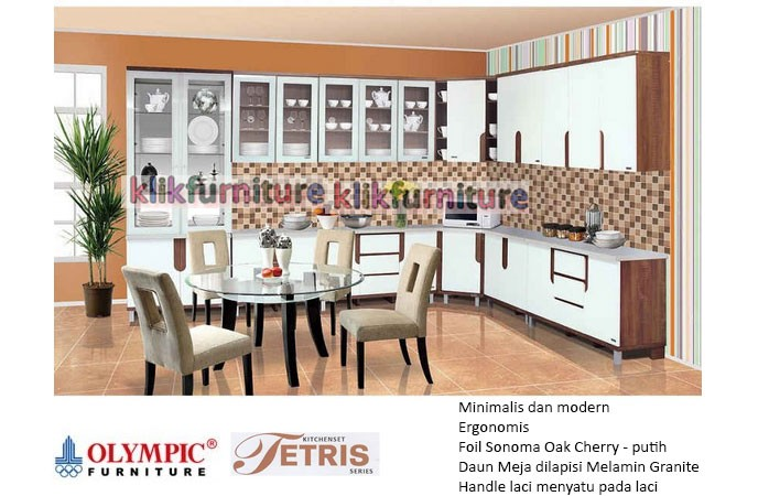 Jual Kitchen Set Full Set Olympic Seri Tetris Klikfurniture