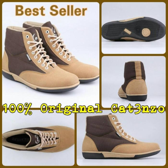 harga Sepatu Low Boot Sneaker Pria Casual Coklat Cream Catenzo - Wr 007 Tokopedia.com